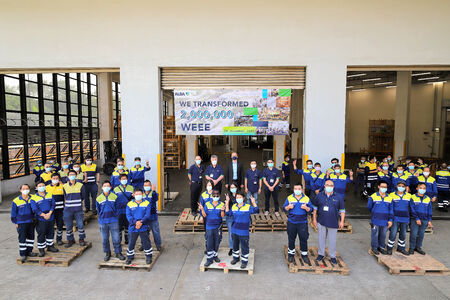 ALBA Group celebrates two million recycled units of waste electrical and electronic equipment at the WEEE facility in Hong Kong